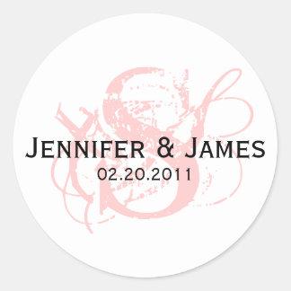 Monogram S Save the Date Wedding Sticker