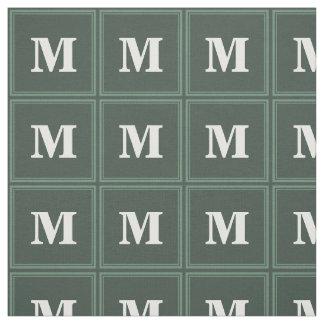 Monogram sage green stripes fabric