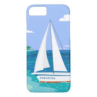 Monogram Sailboat Coastal Tropical iPhone 7 Case