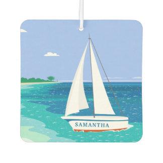 Monogram Sailboat Tropical Ocean Air Freshener