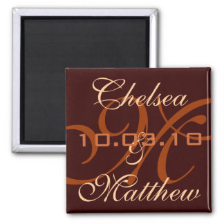 Monogram Save the Date Magnet