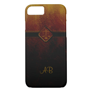 Monogram Scales of Justice iPhone 7 Case