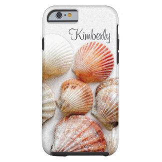 Monogram Seashells Art Tough iPhone 6 Case