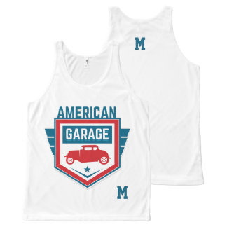 Monogram Series: American Garage. All-Over-Print Tank Top