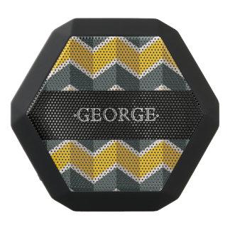 Monogram Series: Classic Chevron Pattern. Black Bluetooth Speaker