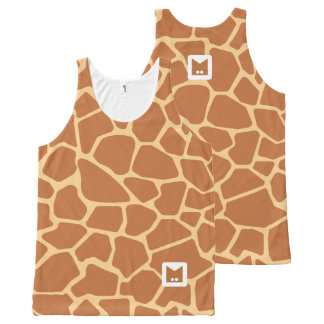 Monogram Series: Cute Giraffe. All-Over-Print Tank Top