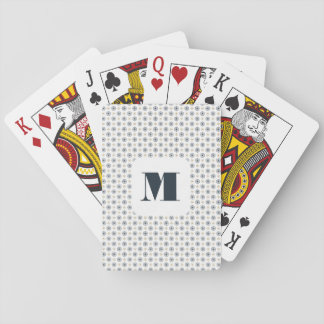 Monogram Series: Elegant Geometric Snowflakes. Poker Deck