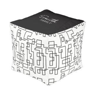 Monogram Series: Geometric Pattern. Pouf