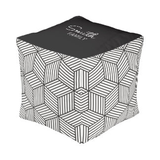 Monogram Series: GeometricPattern. Pouf