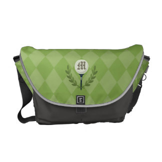 Monogram Series: Golf Ball & the Green. Courier Bags