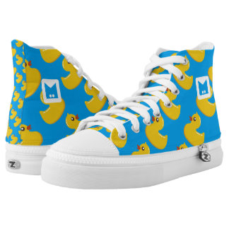 Monogram Series: Kawaii Cute Rubber Ducks. High Tops