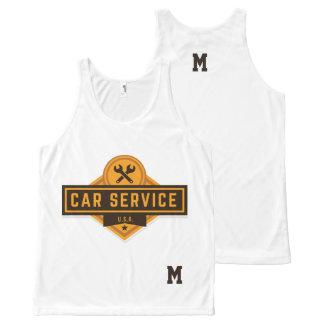 Monogram Series: Real American Car Service. All-Over-Print Tank Top