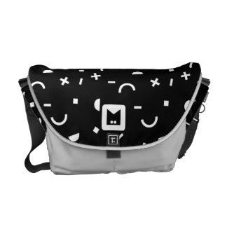 Monogram Series: Retro Eighties Random Shapes Commuter Bag