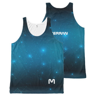 Monogram Series: Terran. Constellations and Space. All-Over-Print Tank Top