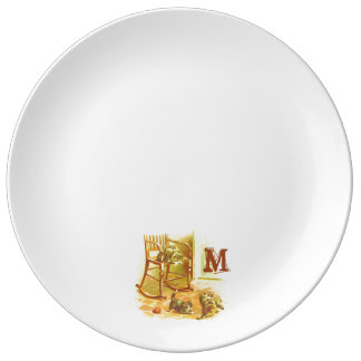 Monogram Series: Vintage Kitten Cats Playing Plate