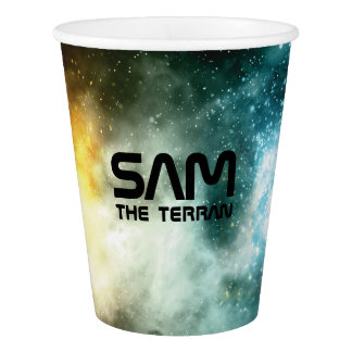 Monogram Series: You The Terran. Funny Gift. Paper Cup