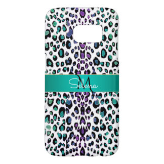 Monogram Shimmering Colorful Leopard Print Samsung Galaxy S7 Case