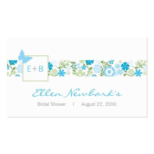 Monogram Shower Favor Tag Business Cards