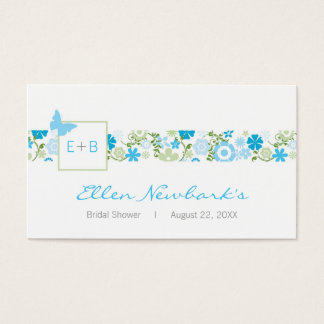 Monogram Shower Favor Tag Business Card