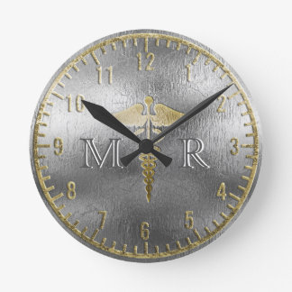 Monogram Silver Doctor Clock