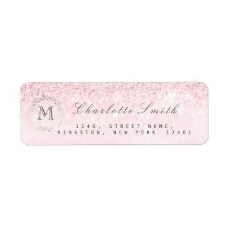 Monogram Silver Glitter Candy  Pink RSVP Bridal