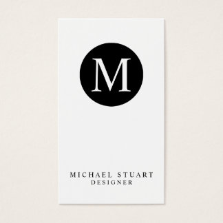 Monogram | Simple Modern Minimalist Custom Color Business Card