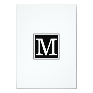 Monogram simple Rehearsal Dinner Card