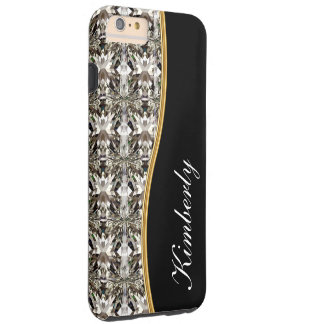Monogram Simulated Jewel Bling Tough iPhone 6 Plus Case