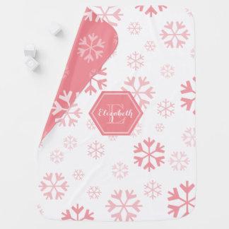 Monogram Snowflake Baby Blanket