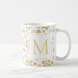 Monogram Snowflake Coffee Mug