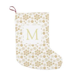 Monogram Snowflake Small Christmas Stocking