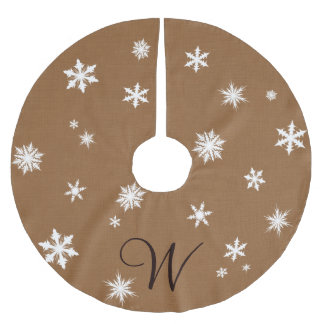 Monogram Snowflake Tree Skirt