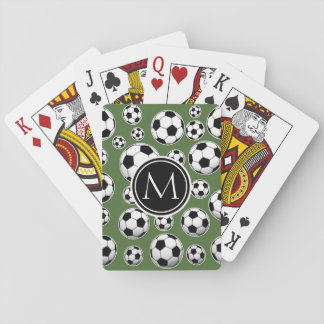 Monogram Soccer - Tree Top Playing Cards