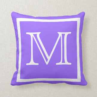MONOGRAM Solid color bright light Purple pillow