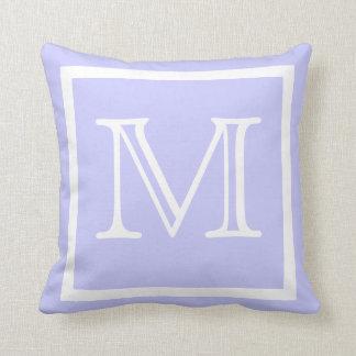 MONOGRAM Solid color pastel lavender light Purple Pillow