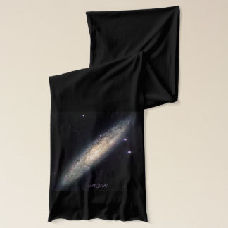 Monogram Spiral Galaxy outer space picture Scarf