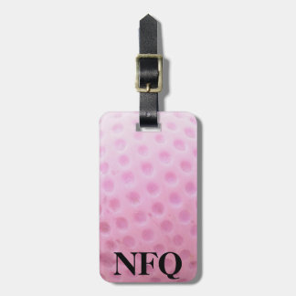 Monogram Sports Pink Golf Ball Luggage Travel Luggage Tag
