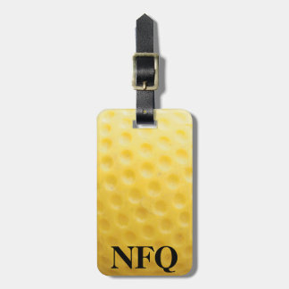 Monogram Sports Yellow Golf Ball Luggage Travel Luggage Tag