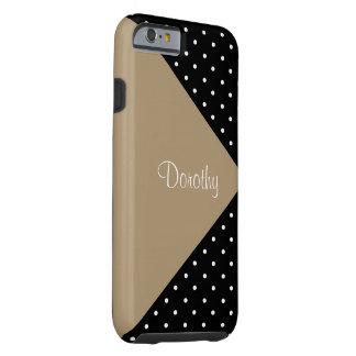 Monogram Starfish Brown Black Polka Dot ColorBlock Tough iPhone 6 Case
