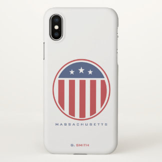 Monogram. Stars & Spangled Banner US American Flag iPhone X Case