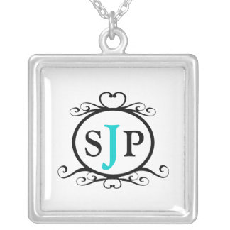Monogram Sterling Silver Necklace