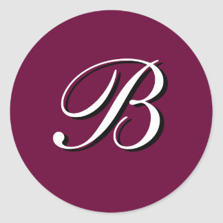 "Monogram Sticker ""B""  Customizable"