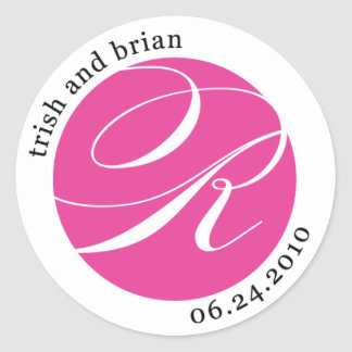Monogram Sticker for Trish and Brian