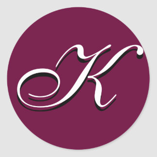 "Monogram Sticker - ""K"" Customizable"