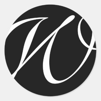 Monogram Stickers| D1 Round Sticker