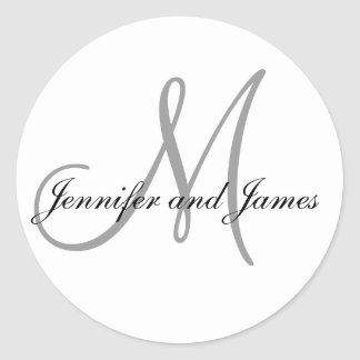 Monogram Stickers for Weddings Initial Names