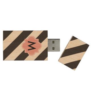 Monogram Stipes USB flash drive