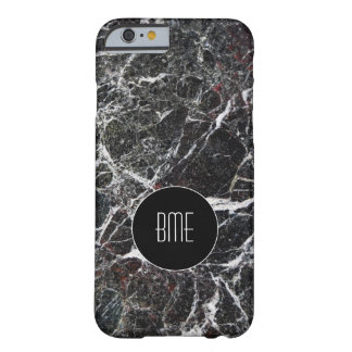 Monogram Stone Granite Look Barely There iPhone 6 Case