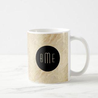 Monogram Stone Look Modern Design Coffee Mug