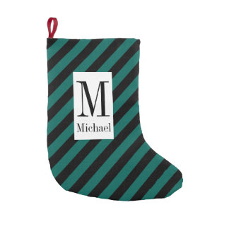 Monogram Striped Christmas Stocking Small Christmas Stocking